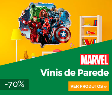 Vinil Decorativo Marvel